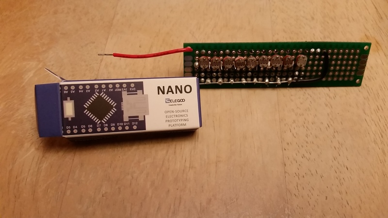 Punch Card Read with Nano For Scale