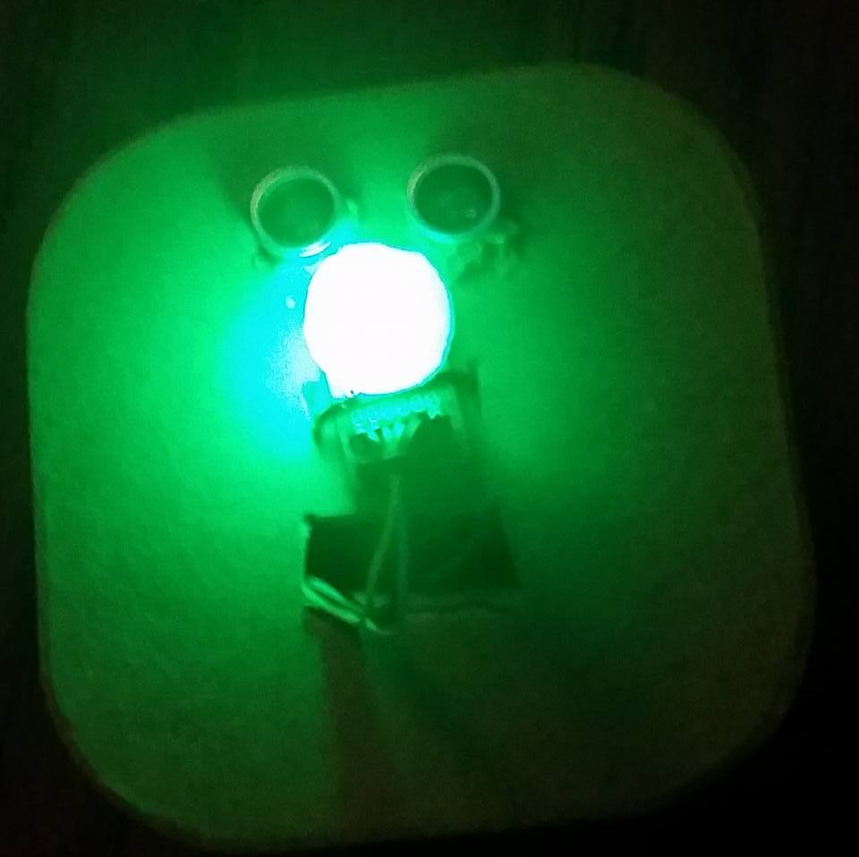 Ultrasonic Garage Sensor with LEDs in case illuminated - Pareidolia
