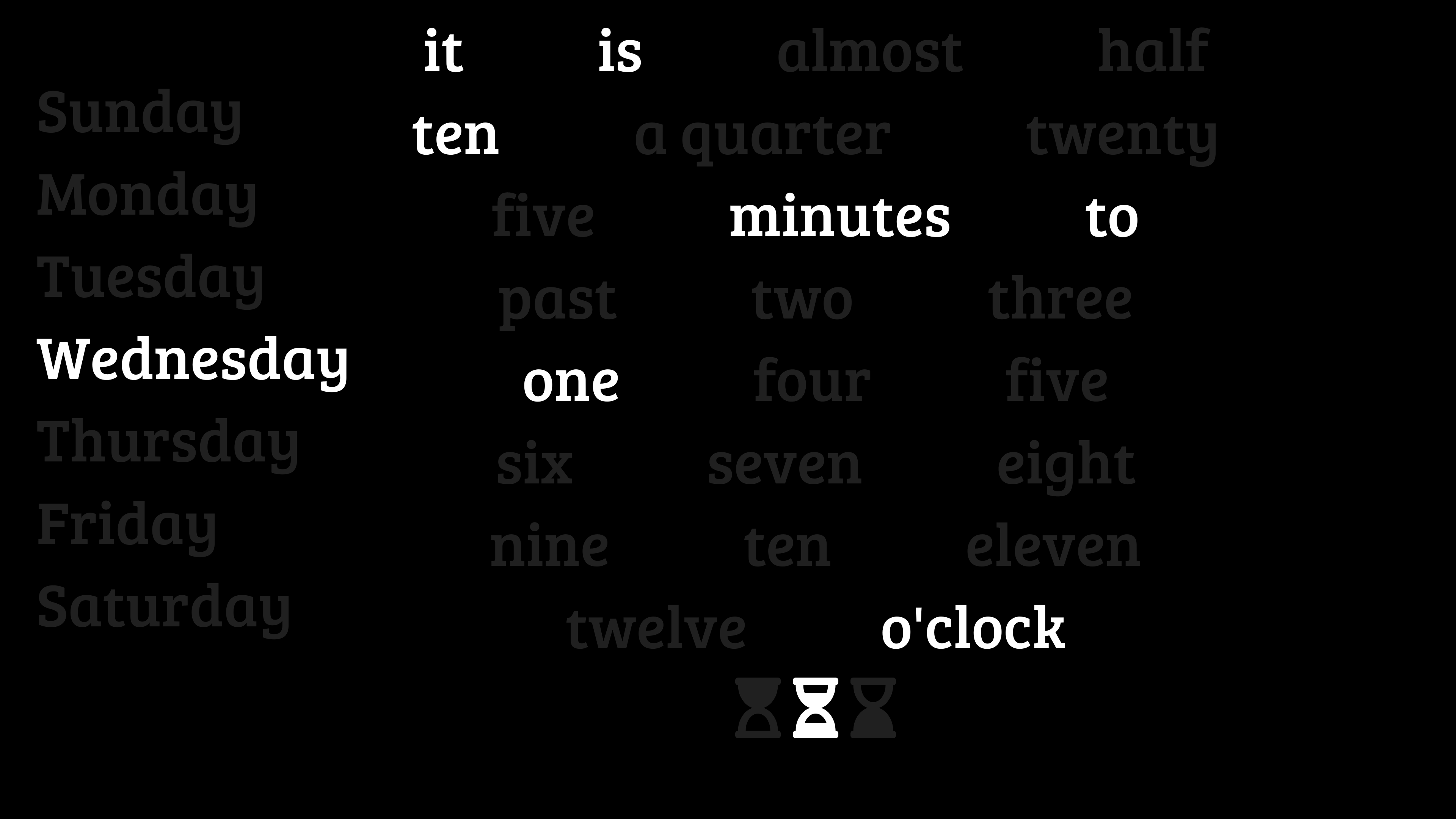 Word Clock Picture